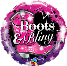 'Boots & Bling' Foil Balloon